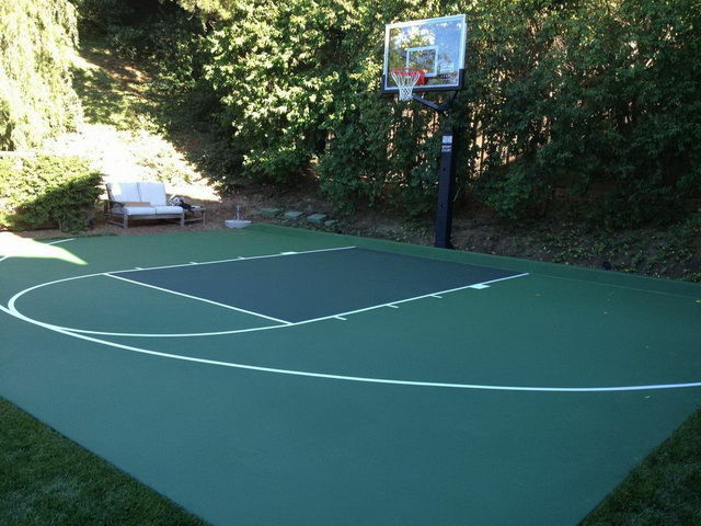 Kangaroo courts for Home outdoor basketball court cost