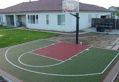 Kangaroo courts for Home basketball court size